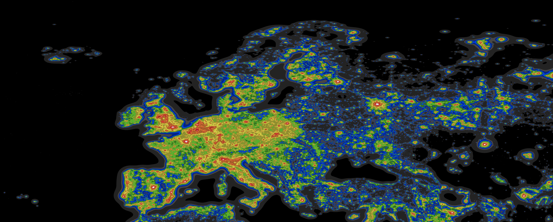 Dark sky map of Australia and New Zealand 8215x4727 MapPorn